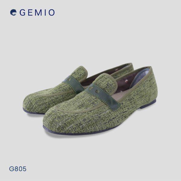 รองเท้าลอฟเฟอร์สีเขียวผู้หญิง